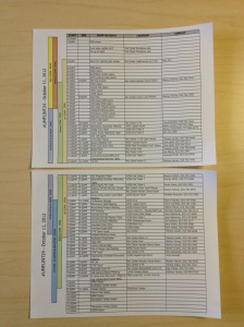 #UMFLINT24 Staff Schedule